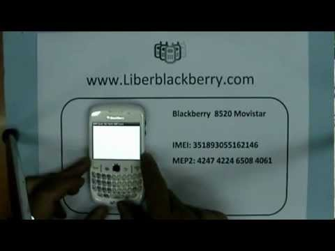 Unlock Blackberry 8520 Curve Movistar Spain  - www.LiberarBlackBerry.com -