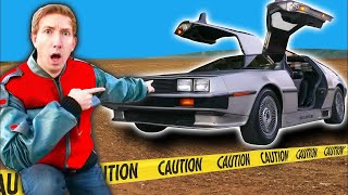HACKER CAR CHASE! Extreme Makeover of Tesla into a Delorean & Project Zorgo Back To The Future Race