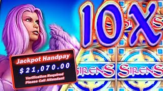 ★★★ BIGGEST JACKPOT ON YOUTUBE ★★★ SIRENS! ★ 10x MULTIPLIER! ➜ HIGH LIMIT SLOT MACHINE JACKPOT!!