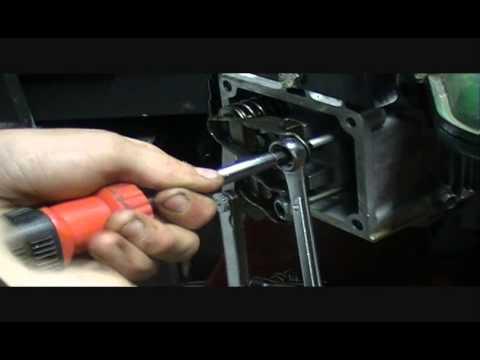 Briggs Intek V-Twin OHV Valve Adjustment - YouTube