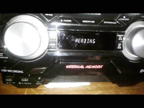 Mini system Panasonic como gravar do CD para o pen drive