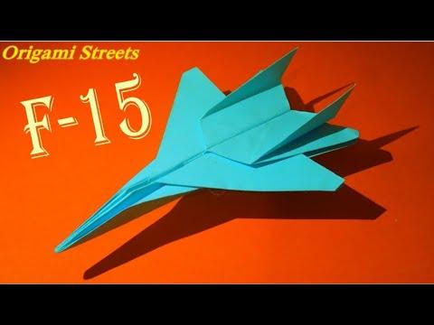 Как сделать самолёт из бумаги. Оригами самолёт. Origami plane