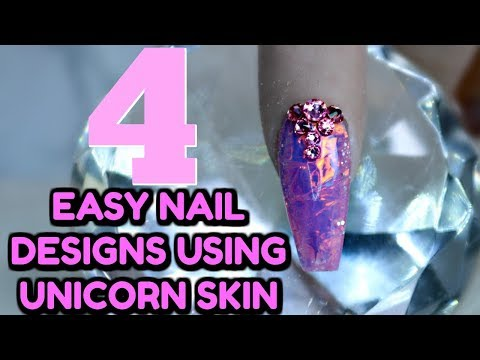 4 EASY NAIL DESIGNS WITH ANGEL PAPER
