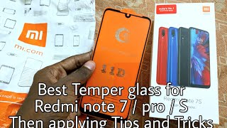 Original temper glass for Redmi Note 7 series Mobile phones fit and Full edge covered glass 11D 5D.