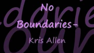 Watch Kris Allen No Boundaries video