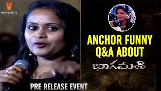 Anchor Funny Q&A about Bhaagamathie Movie | Anushka | Unni Mukundan | Thaman S | #Bhaagamathie