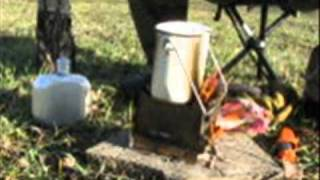 Nomad wood stove.wmv