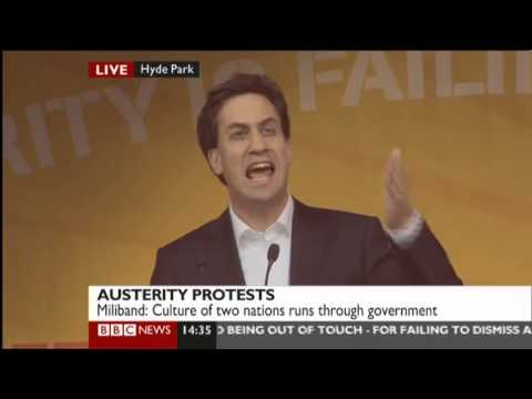 Ed Miliband speaking at A Future That Works