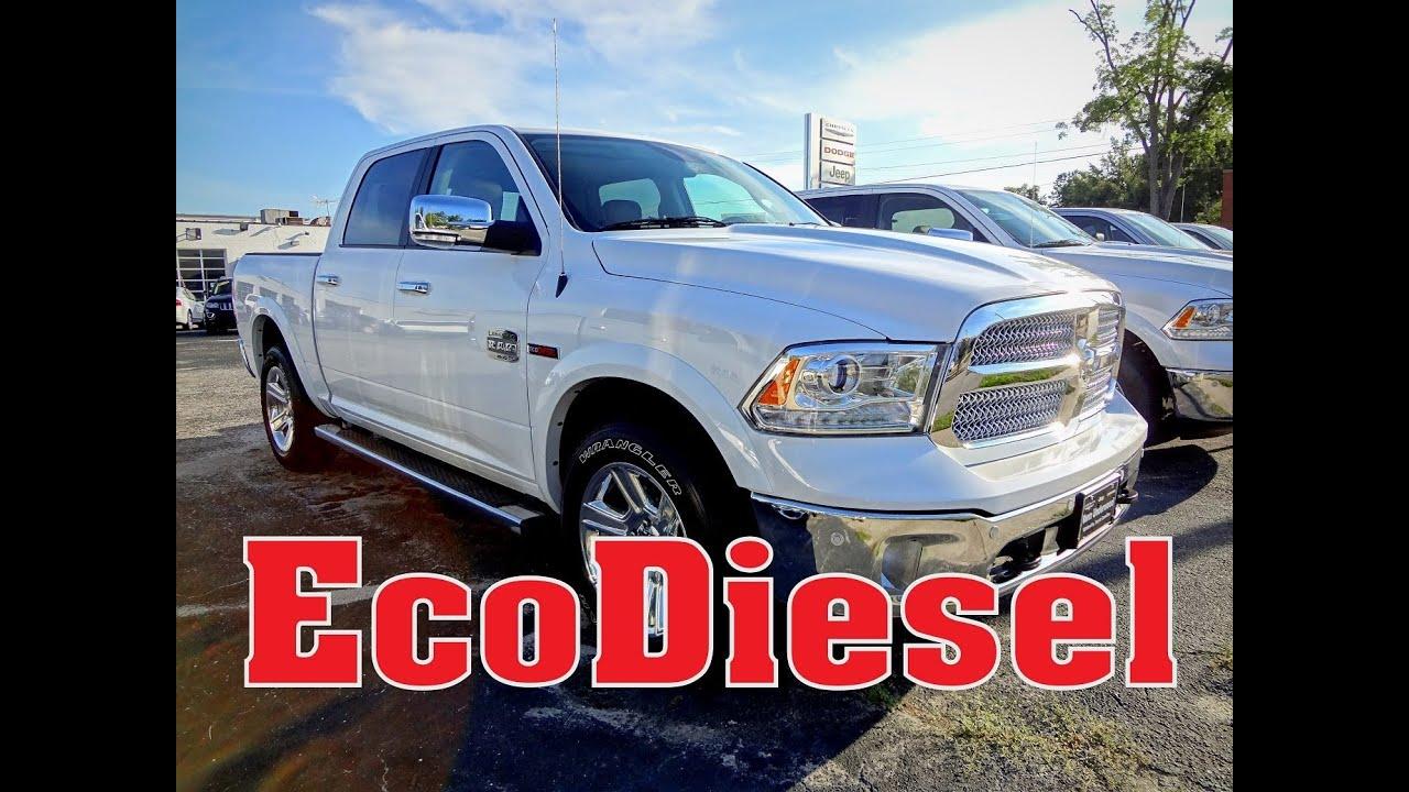 ram  laramie longhorn crew cab ecodiesel  eco diesel youtube