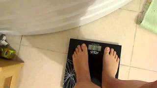 Checking my weight - need to eat more