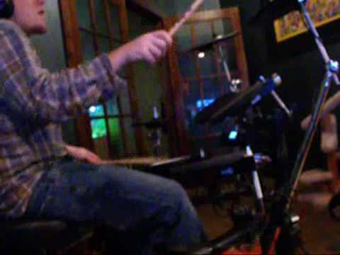 Jamming with Charlie Hunter on Roland td-4 drums