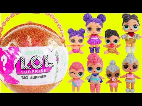 LOL Surprise Dolls + Lil Sisters Big Giant Surprise Ball