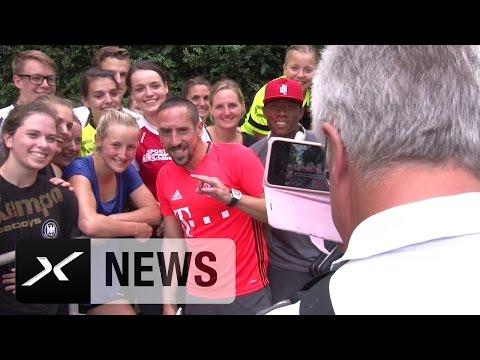 Girly-Selfie-Hype um Franck Ribery und David Alaba   SpVgg Landshut - FC Bayern München 0:3