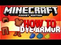 HOW TO DYE LEATHER ARMOR ARMOUR In Minecraft PE MCPE Tutorial Pocket Edition mp3