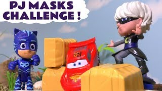 PJ Masks toys Cars Race Challenge with Superhero Cars Spongebob and funny Funlings TT4U