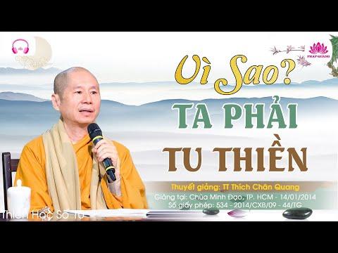 Vì sao ta phải tu Thiền
