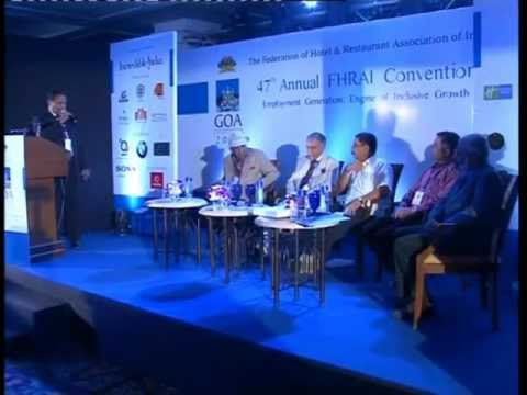Minister of Tourism Goa address at FHRAI Goa Convention