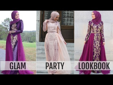 GLAM PARTY LOOKBOOK | Modanisa Dresses - YouTube  By Omaya Zein