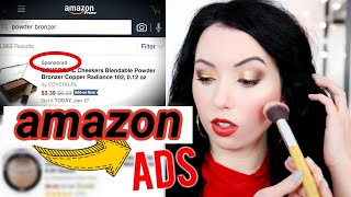 I BOUGHT A FULL FACE OF MAKEUP FROM AMAZON ADS!