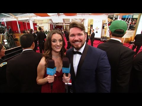 Kevin and Lauren on the Oscar Red Carpet