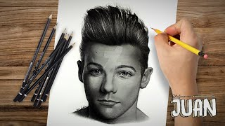 One Direction - Drawing @Louis_Tomlinson By Juan Andres