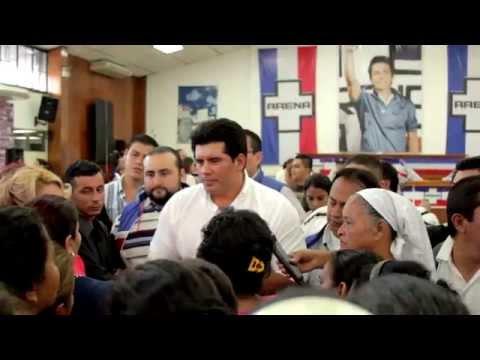 Presentacion candidato a alcalde de Mejicanos José A. Hernández