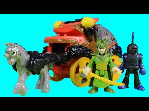Imaginext King Arthur Defends Woodland Castle From Battle Coach Warrior Knights