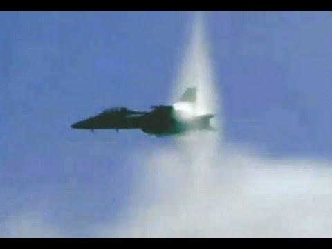 Vídeo de jato ultrapassando a velocidade do som, muito louco!