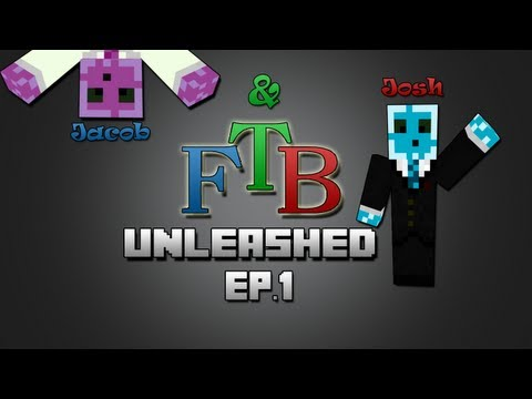 Minecraft FTB Unleashed Modpack Multiplayer Ep.1 - The Mountain
