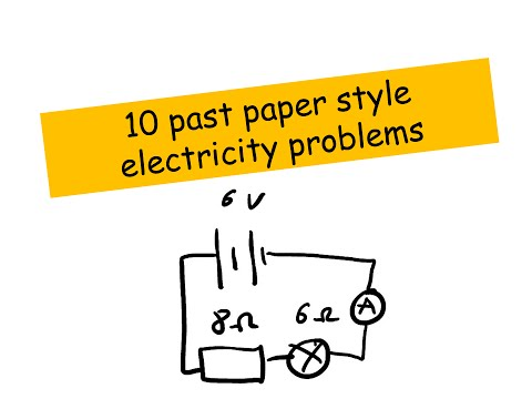 Electricity past paper examples - IGCSE Physics