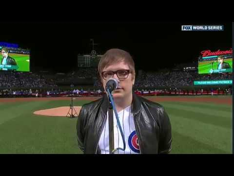 Patrick Stump Singing National Anthem Game 3 of World Series - Newer Version Available