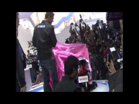 John Abraham launching Yamaha Ray at 11th Auto Expo 2012