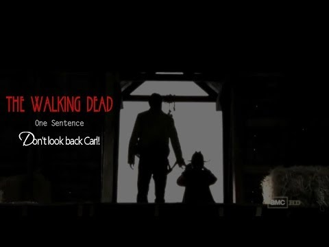 The Walking Dead || One Sentence | Don't look back Carl!