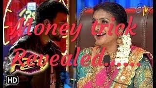Sudigaali sudheer 20rs and 10rs note switching on roja hands magic trick revealed   indian dynamite
