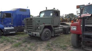 Old Crane Carrier Military Truck