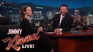 """Emily Blunt Pretended to Ride a """"Wolf Bear"""""""