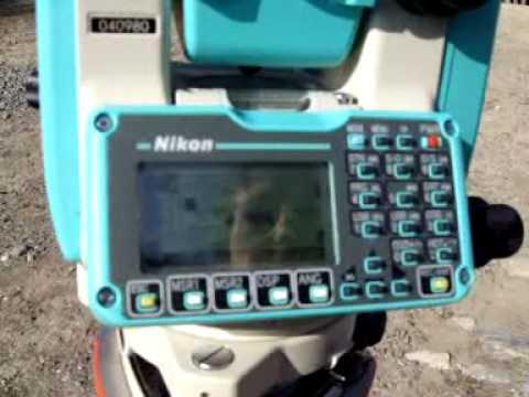 Uso estacion total NIKON 332