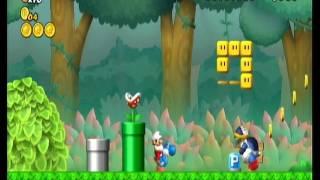 Newer Super Mario Bros Wii (Super Mario World) Gameplay