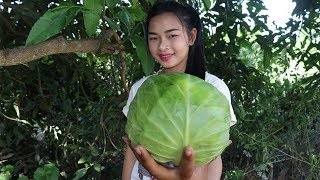 Awesome Cooking Boiled Pork In Cabbage Delicious Recipe - Cook Cabbage - Village Food Factory