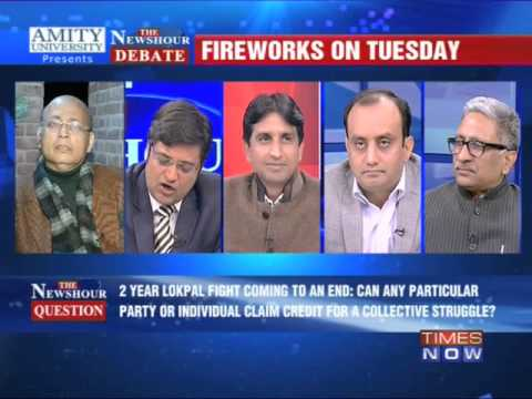 The Newshour Debate: Whose Lokpal is it anyway? - Full Debate (16th Dec 2013) klip izle