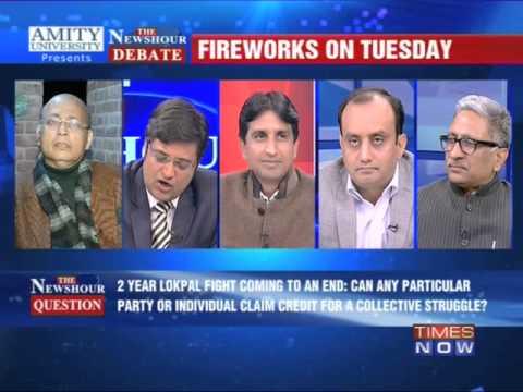 The Newshour Debate: Whose Lokpal is it anyway? - Full Debate...