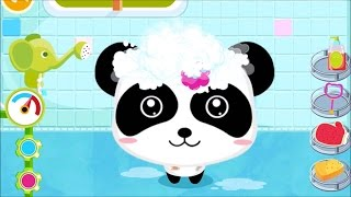 Baby Panda Bath Time | Help Little Panda and Little Bunny to take a bath