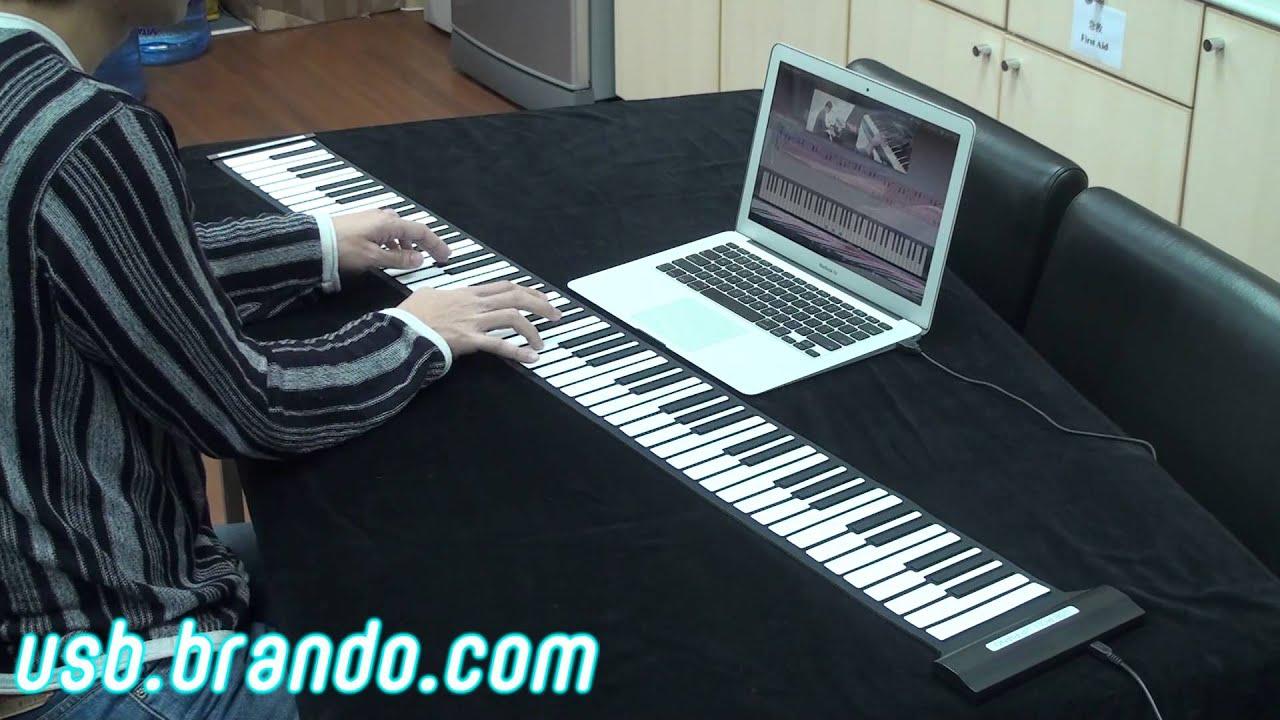 Usb Roll Up Piano 88 Keys Youtube