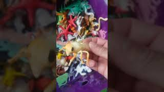 Big box small animals , Kids plastic toy , baby animals