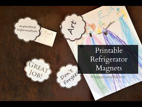 Easy Refrigerator Magnets