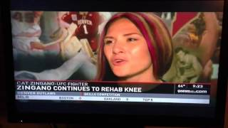 Cat Zingano Talks About Knee Injury with Denver Channel 9 News