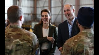 Duke and Duchess of Cambridge bring Christmas gifts to RAF service personnel