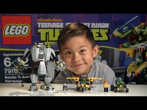 BAXTER ROBOT RAMPAGE! - LEGO Teenage Mutant Ninja Turtles Set 79105 - Time-lapse Build & Review