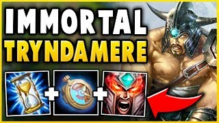 UNKILLABLE FOR 10 SECONDS (AMAZING OUTPLAY) NEW IMMORTAL TRYNDAMERE BUILD! - League of Legends