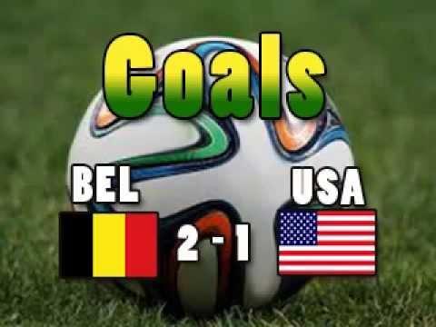 Goals BELUSA Belgium 2 USA 1 DE BRUYNE LUKAKU GREEN CM2014 Wordcup2014